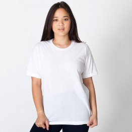 Womens American Apparel crew neck White T-Shirt