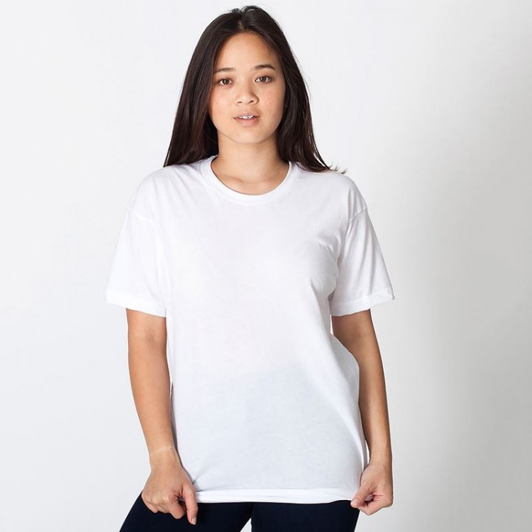Womens american apparel crew neck white t shirt for Crew neck white t shirt