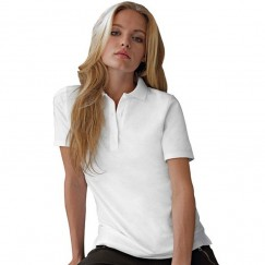 Anvil Double pique Women's white polo shirts
