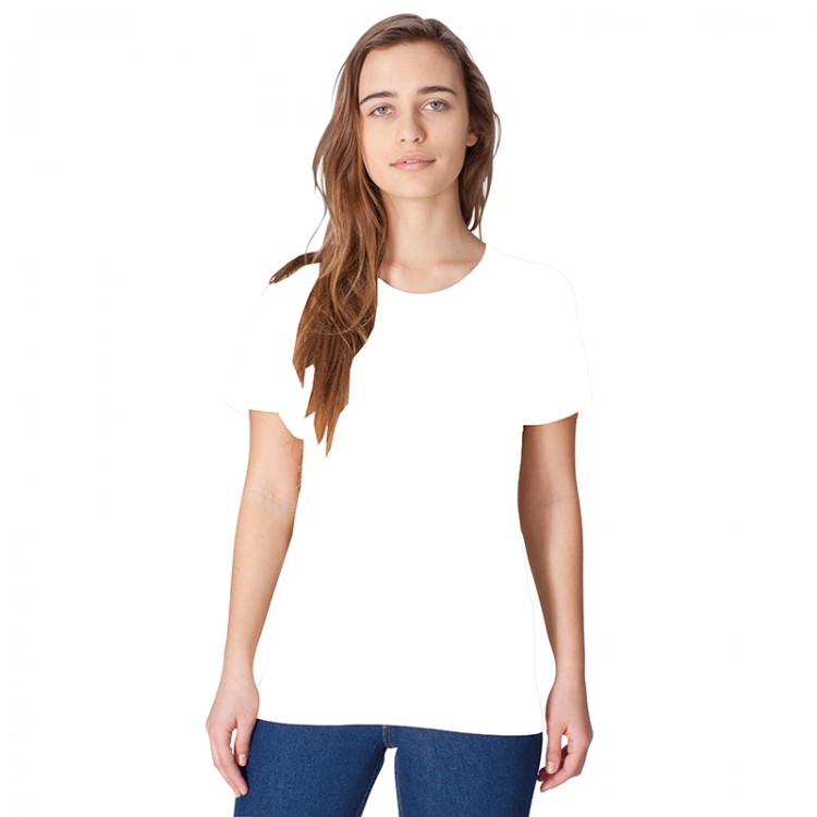 Crew neck power washed american apparel white t shirt for Crew neck white t shirt
