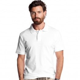 Men's heavyweight Fruit Of The Loom White Polo