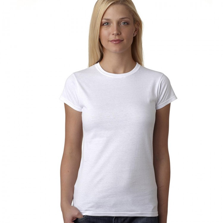 20480e7d67f9 Women Fruit Of The Loom Fitted White T-Shirt