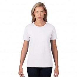 Women Gildan Lady Premium Cotton White T-Shirt