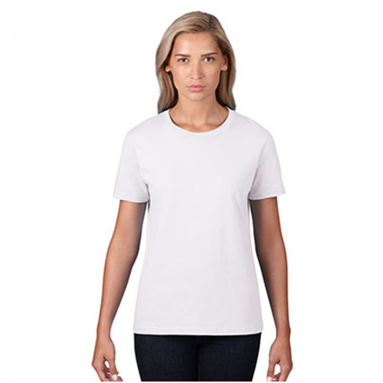 964cd2dbc570 Women Gildan Premium Cotton White T-Shirt