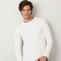 Gildan Plain White 100% Softstyle long sleeve T-Shirt