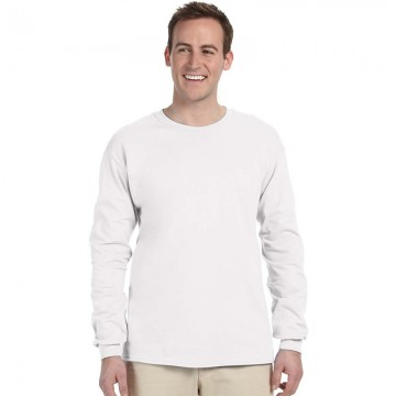 Gildan Plain White 100% Ultra Cotton long sleeve T-Shirt