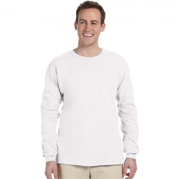 Gildan Plain White 100% Ultra Cotton long sleeve T-Shirt