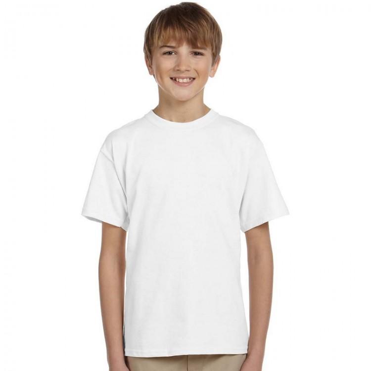 a9e8b9135dc Gildan Plain Kids White 100% Softstyle cotton T-Shirts
