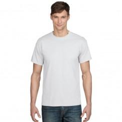 Gildan Plain White Dryblend polyester mix T-Shirt