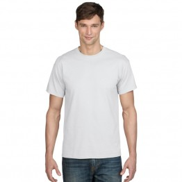 Gildan Plain White Dryblend polyester mix T-Shirt