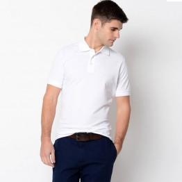 Mens White AWD 100% Polyester Cool Polo Shirt