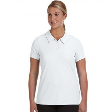 AWD Women's white short sleeve cool polo