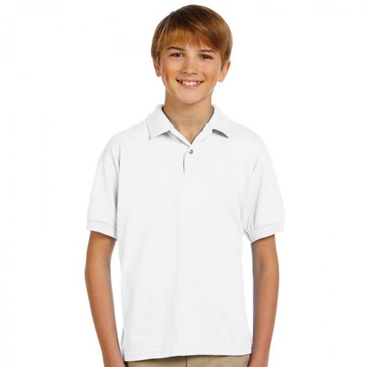 d884f383 AWD Plain white Kids 100% Polyester Polo Shirts