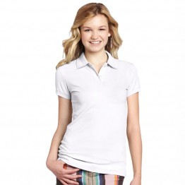 Premier Women's white coolchecker pique polo shirt