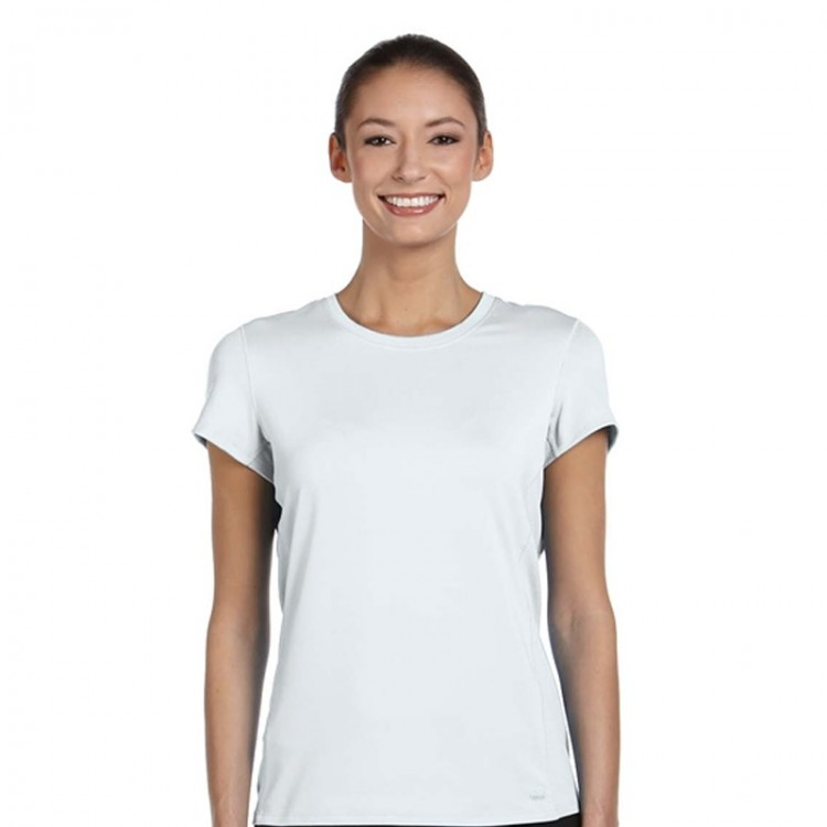2357ad5460fa Women Fruit Of The Loom Lady Fit Performance Polyester White T-Shirt