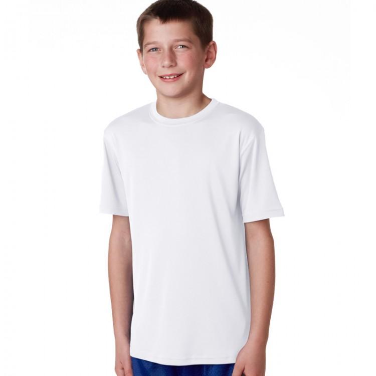 Awd Plain White Kids 100 Polyester T Shirts